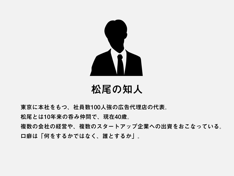 松尾の知人のプロフィール