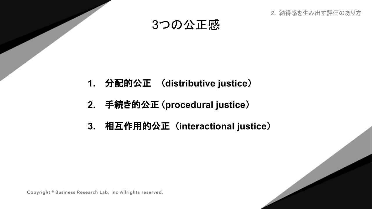3つの公正感